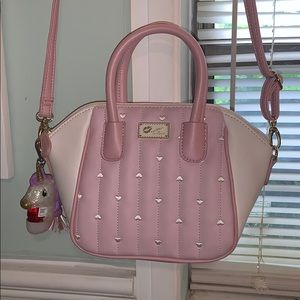cute pink heart Betsey Johnson crossbody